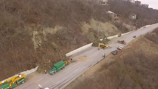 Sky 9: Columbia Parkway closed due to landslide - Video