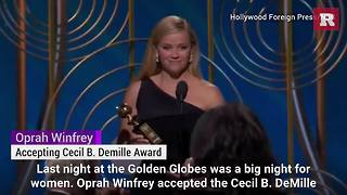 Oprah gives powerful #MeToo speech at Golden Globes | Rare People - Video