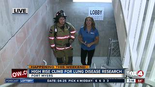 High rise climb fundraises for lung disease research