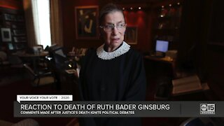 Reaction to death of Ruth Bader Ginsburg