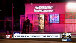 1 dead, 1 hospitalized in shooting at Mesa convenience store