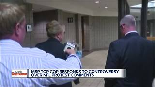 Michigan State Police director talks about National Anthem controversial comments - Video