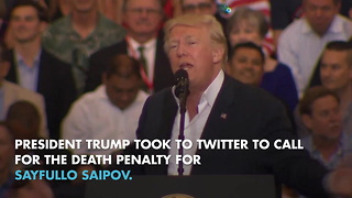 Trump: Alleged New York terrorist should get death penalty