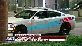 Homeless woman stabbed multiple times on Detroit Riverwalk - Video