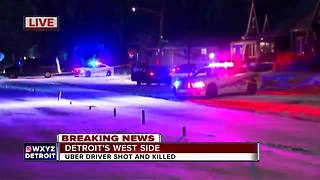 Uber driver shot, killed on Detroit's west side - Video