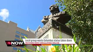 Local group wants Christopher Columbus statue taken down - Video