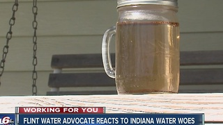Flint water advocate reacts to Indiana water woes - Video