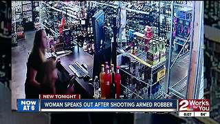 Women talk about shooting robber - Video