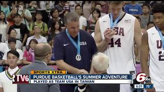Purdue University basketball team plays as team USA in World University Games - Video