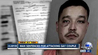 Man sentenced for attacking gay couple - Video