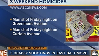 3 deadly shootings in east Baltimore - Video