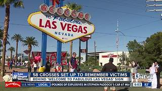 58 crosses set up to remember Las Vegas shooting victims - Video