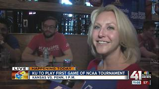 KU to play first game of NCAA Tournament - Video