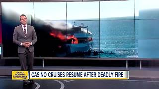 Casino cruises resume after deadly fire - Video
