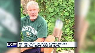 Friends remember retired Pontiac police officer who died after falling off his roof - Video
