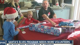 Santa's Elves program needs more volunteers - Video