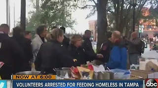 Group arrested for feeding homeless - Video