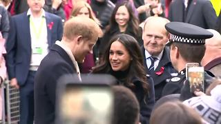 Prince Harry and Meghan Markle's first official royal event together - Video
