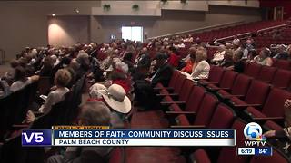 Members of faith community discuss issues in Palm Beach County - Video