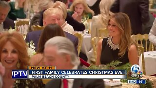 President Trump and First Lady attend Christmas Eve church service in West Palm Beach