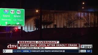 Roads reopen after deadly crash - Video