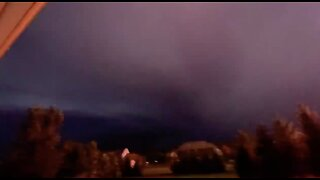 Crazy lightning captured on video in Medina