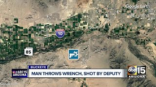 MCSO deputies shoot man who threw wrench at them