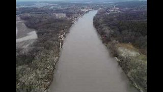 Drone Footage Captures Impact of Flooding Along Nebraska's Elkhorn River Valley
