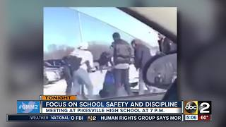 Meeting on school safety and discipline at Pikesville High - Video