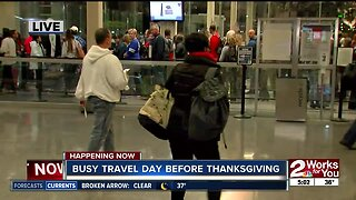 Busy travel day before Thanksgiving in Tulsa