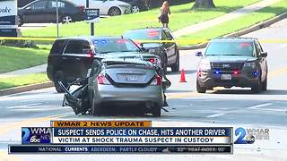 Suspect sends police on chase, hits another driver - Video