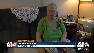 Stolen scooter leaves KCMO woman stuck at home - Video