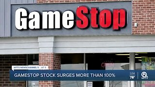 GameStop stock surges over 100% Wednesday