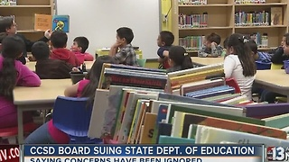 Clark County School District board sues over reorganization