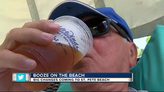 Booze on the beach...but only for hotel guests! - Video