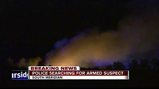 Search continues for armed suspect in Meridian - Video