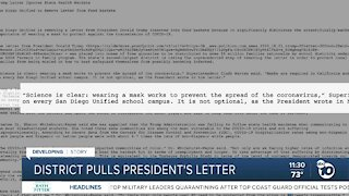 SD Unified pulls President Trump letter from school food boxes