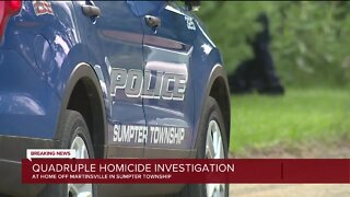 Quadruple homicide investigation underway in Sumpter Township