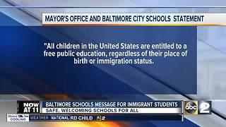 BCPS Message for immigrant students - Video