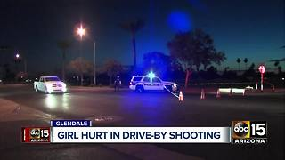 Girl wounded in drive by shooting in Glendale