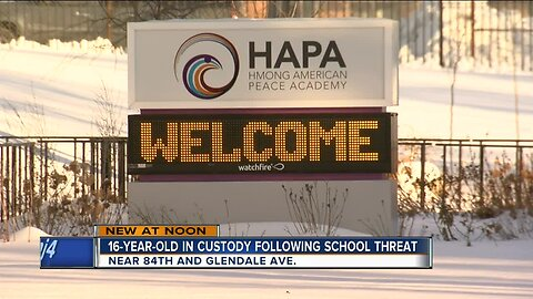 16-year-old arrested for making threats to Hmong American Academy