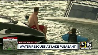 Storm causes chaos at Lake Pleasant - Video