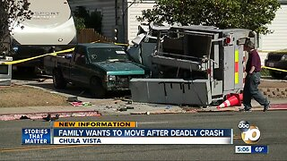 Family wants to move after deadly Chula Vista crash
