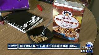 Colorado family purchases, eats decades-old cereal bought from local Walmart - Video