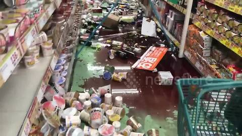 Supermarket back to business after 6.1 magnitude earthquake hits Osaka, Japan
