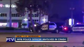 West Palm Beach police vehicle involved in crash - Video