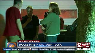 Tulsa Fire crews respond to midtown house fire - Video