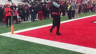 LeBron James attends Ohio State game