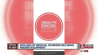 Spouses of medical workers securing needed equipment