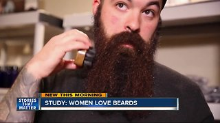 Study shows women love men with beards